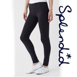 Splendid black French terry leggings